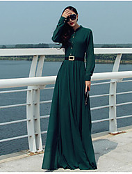 MaNi Women's Casual Long Sleeve Dresses (Chiffon)