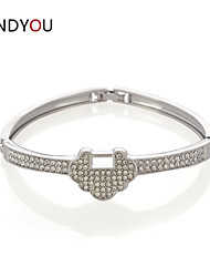 Women's Chain/Tennis/Round Bangles Bracelet Cubic Zirconia/Alloy/18K Gold Plated Crystal/Cubic Zirconia