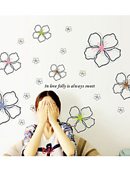 Wall Stickers Wall Decals, Blooming Flowers PVC Wall Stickers
