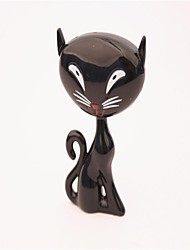 Miss New Strange Cat Butane Metal Lighters Black White