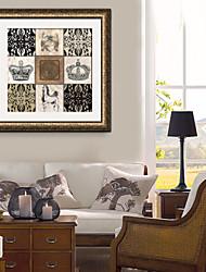 e-Home® incorniciato tela, la corona e il modello di cornice canvas stampa europea