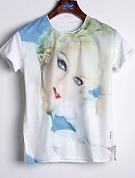 Zijde/Katoen Vrouwen - T-shirt - Korte mouw