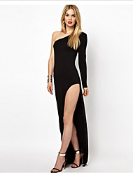 MaNi  Women's Sexy Long Sleeve Dresses (Cotton)