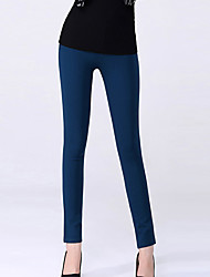 Women's Blue/Red/Black/Brown Skinny Pants , Casual/Plus Sizes