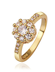 Women's Brass Ring With Cubic Zirconia