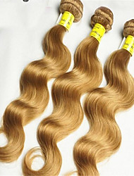 "3Pcs/Lot 8""-34"" Brazilian Body Wave Honey Blonde Light Brown Weaves Unprocessed Hair Weft"