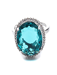 Brass New Hollow Ladies CZ Ring(More Colors)