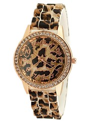 Women's Leopard simple rubber band fashion watch