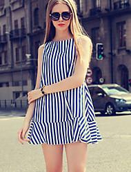 Vestidos ( Otros )- Casual Sin Mangas para Mujer
