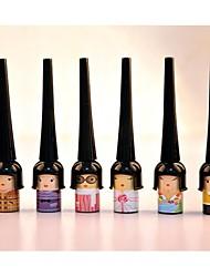 maquillage pour les yeux outil cosmétique étanche stylo eyeliner liquide noir couleur aléatoire