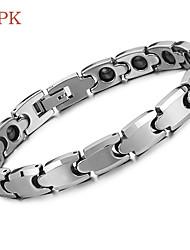 OPK®Brazil Black Gallstone Anti-fatigue Anti-radiation Magnetic Therapy Health Beautiful Tungsten Steel Care Bracelet