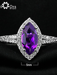 Genuine Nobile 925 Fine Jewelry Natural Amethyst Ring for silver 925 Sterling Silver Rings For Women
