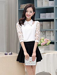 ICED™ Women's Lapel Mosaic Bead Fashion Slim Shirt