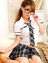 No Socks Sexy Uniform Student Hot Girl Lady Lingerie Suit Cosplay Costumes Cute  Roll Play Nighty