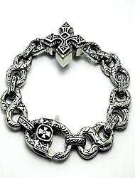 Men's Titanium Gothic Cross Bracelet