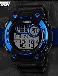 SKMEI Masculino Relógio Esportivo Relogio digital Quartzo Digital Quartzo Japonês LCD Calendário Cronógrafo Impermeável alarme Borracha