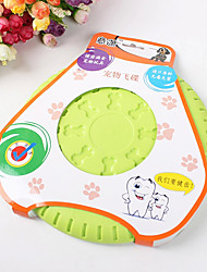 Soft Frisbee Bite Resistant Bone Pattern Rubber Disc for Pets Dogs