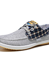 Men's Shoes Casual Fabric Fashion Sneakers Blue/Yellow/Gray