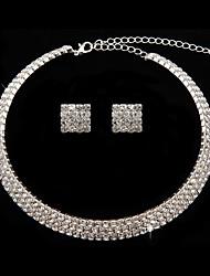 Ensemble de bijoux Zircon Zircon/Alliage Femme