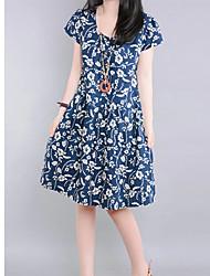 Deewo Women's Vintage Floral Print Dress