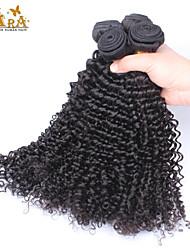 """3pcs / lot 10 """"-30"""" vietnamiens couleur des cheveux crépus naturels vierges tisse Cara Black bouclés de cheveux humains"""