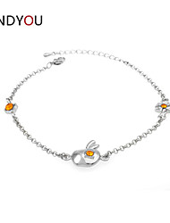 Women's Anklet/Cuff/Chain/Tennis Bracelet Cubic Zirconia/Alloy/18K Gold Plated Crystal/Rhinestone/Cubic Zirconia