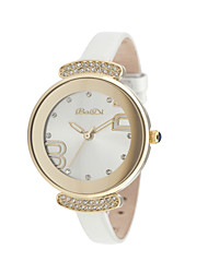 fashion ladies watch with charming stones