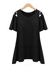 Kortärmad T-shirt Kvinnors Bomull