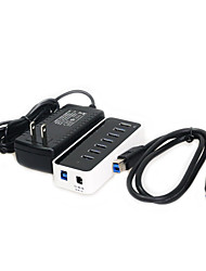 7-Port Super Speed USB3.0 HUB  with Plastic Case