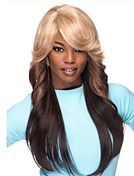 European and American Fashion Wig Hair Dark Brown Gradient