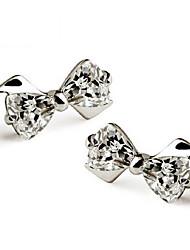 KIKI 925 silver cute Bow Earrings