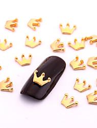 10PCS Small Gold Nail Art Jewelry Alloy Crown Aryclic Nail Tips Decorations Nail Art Stud for DIY Salon Nails
