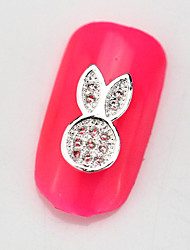 New 10PCS RG066 Rabbit Luxury Mini Zircon 3D Alloy Nail art Decoration Diamond Nail Salon Supplier DIY Accessories