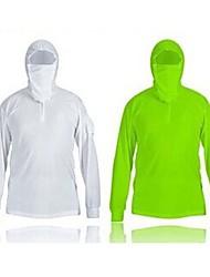 Tops ( Blanco/Verde Claro ) - Transpirable/Alta transpirabilidad/Resistente a los UV/A prueba de insectos/Capilaridad - Mangas largas-