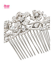 Neoglory Jewelry Flower Bridal Wedding Hair Comb Accessories with Rhinestone for Lady/Daily/Pageant