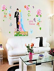 pared calcomanías pegatinas de pared, pvc boda pegatinas de pared