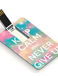 8gb a mantener la calma y nunca te rindas diseño usb tarjeta de unidad de memoria flash