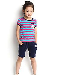 Girl's Summer Short Sleeve Sport Clothing Set