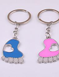 unisex keychain della lega impronte portachiavi San Valentino 1 paio