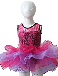 Deep Pink Cotton/Lycra with Tulle Ballet Dancing Performance Tutus  for Ladies and Girls