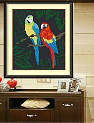 Birds  Patchwork Fabric Living Room Diamond Cross Stitch Needlework Wall Home Decor 28*31cm