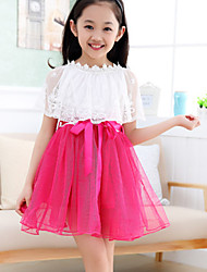 Girl's Fashion Medium Short Sleeve Dresses