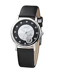 design de moda cristal de personalidade índice de discagem melhor da menina venda suavizar banda quartzo de couro relógios dc-51004