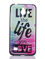 Life Pattern PC Hard Case for Huawei Ascend Y550