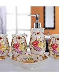 o padrão lindo banheiro Ware 5 conjuntos / branco
