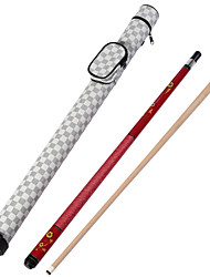 1/2 Jointed maple wood pool/billiard JY cue with 13MM cue tip+Cue Case+cue tip pb21
