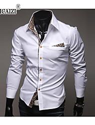 SPCZ® Men's Popular Leopard Print Cloth Long Sleeve Shirts