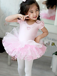 Ballet Dresses Women's Performance/Training Cotton Pink Kids Dance Costumes