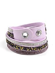 Bracelets Wrap ( Acrylique/Strass/Molleton ) Mariage/Soirée/Quotidien/Casual/Sports