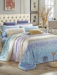 H&C ®  Tencel 100% 400TC  Duvet Cover Set 4 Piece Floral Pattern  European  Style HT363